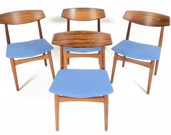 Set of Four Danish Mid Century Modern Rosewood Dining Chairs