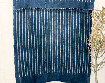 Vintage African Indigo Fabric, Indigo Throw African Throw Blanket African Indigo Textile Indigo Cloth Indigo Beach Blanket #81