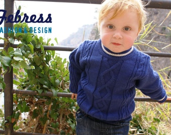 Blue wool sweater boys, peruvian wool, winter cardigan children, ideal gift for Christmas. Ready to ship, 2-3 years, knitted.