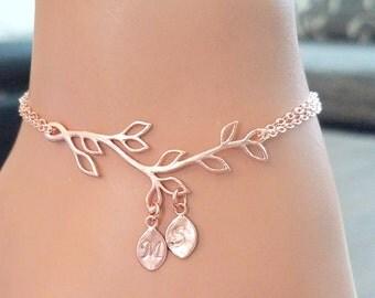 SALE! Family Tree Bracelet, Rose Gold Bracelet, Infinity bracelet, Tree of Life, Sister, Friendship, MOTHER, Family, Best friend Gift