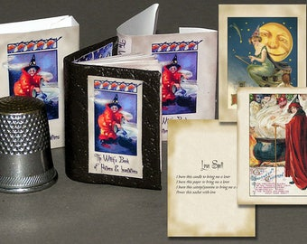 The Grimoire, paper minis, DIY kit from paper in miniature for the Doll House, Doll House, dollhouse miniatures # 40051