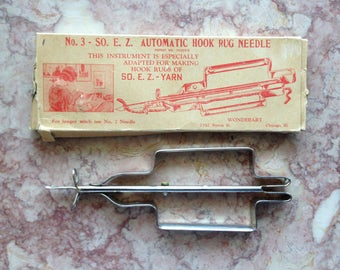So E Z Automatic Hook Rug Needle Tufting Tool 1970s