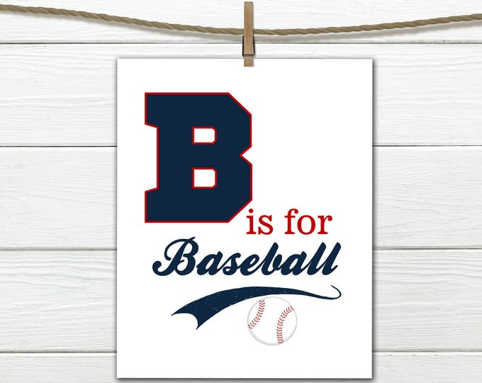 Baseball Nursery - Baseball Decor - INSTANT Download PDF 8x10