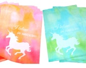 "Sale! 100 Pastel Pink and/or Blue Unicorn 10"" x 13"" Flat Poly Mailers, Animal Lovers Self Sealing Flat Mailers, Colored Shipping Mailer Bags"