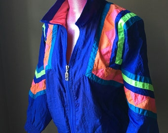 Colorful 80's Jogging Jacket by Petite Projections