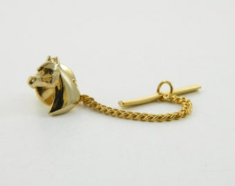 Vintage Horse Lapel Pin with Chain - 008 - Vintage Tie Tack