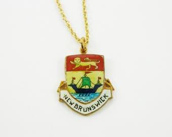 New Brunswick Necklace - Canada 150 Necklace - Maritimes Jewelery