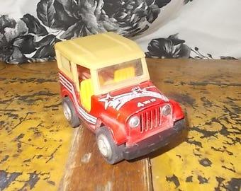 Jeep  Off Road 4 WD Red Super Power , Vintage Metal Jeep, Small Metal Jeep, Vintage Metal Jeep, Vintage Toy Jeeps, Vintage Toys