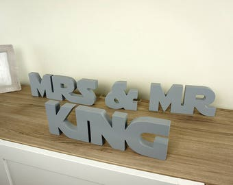 Star Wars Mr and Mrs with name, Wedding Sign Mr & Mrs wooden letters table decor Wedding gift