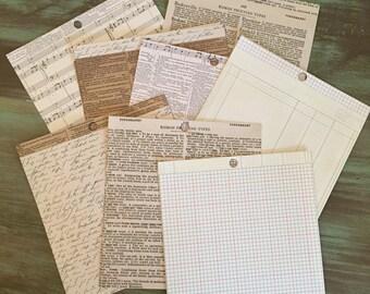"Card Stock Mixed Media Theme / 16 Sheets 6"" x 6"" Sheets Card stock Paper Pinks, Mint & Tan"