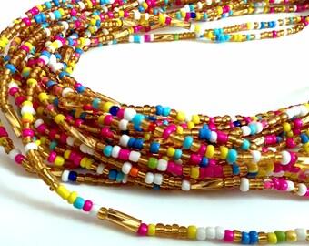 Multicoloured Handmade African Waist Bead *per one strand*
