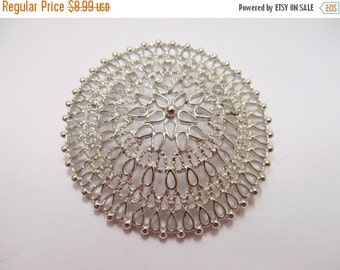On Sale SARAH COVENTRY Large Silver Tone Open Work Pin Item K # 287