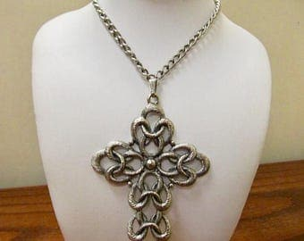 On Sale SARAH COVENTRY Large Interlocking Cross Necklace Item K # 3036