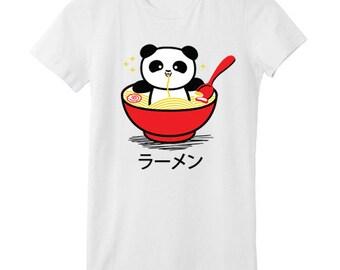 Panda Ramen Bowl T-SHIRT - Red Bowl
