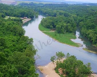 Lake Taneycomo 8 x 10 photograph, Branson Missouri, Ozarks