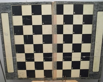 Vintage Black and White Built-Rite Checker Game Board