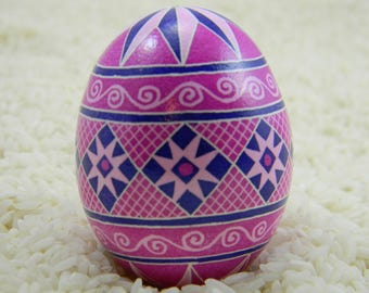 Pink & Purple Barylka Ukrainian Egg