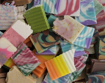 50 Odds & Ends Soaps | DIY Party Favors | Bulk Soap | Cold Process Soap | Guest Size Soaps | Weddings | Shower Favors | Flat Rate Shipping