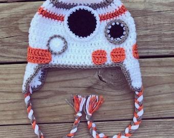 BB-8 inspired Crochet Hat