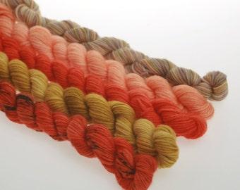 Wool Yarn NEW - Mini Skeins Collection -  'Turmeric'   828