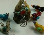 Lampwork Bird Pendants