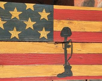 American Flag~Slain Soldier