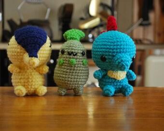 Crochet Chibi Johto Starters