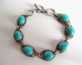 India Turquoise Bracelet.