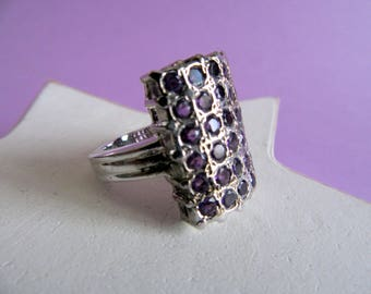 India Amethyst and silver ring.
