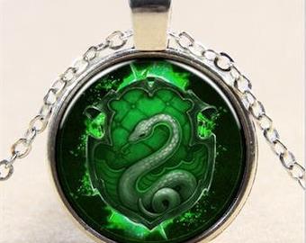 harry potter,Slytherin snake necklace,