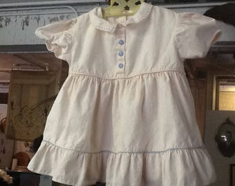 Vintage 1950's Pale Pink Dress