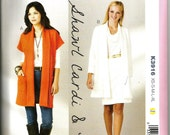 Kwik Sew 3916 size XS, S, M, L, XL womans long jacket/coat or cardigan