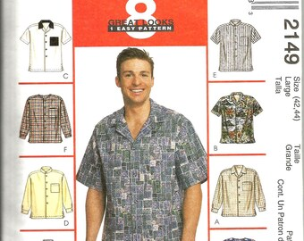 McCalls 2149 uncut size 42 - 44 large mens shirt