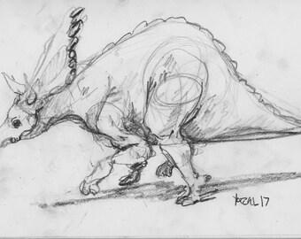 Tricertops 006 -Print of my original Sketchbook page