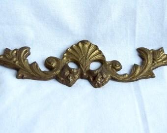 Vintage brass hardware finding...brass topper...brass hanger...