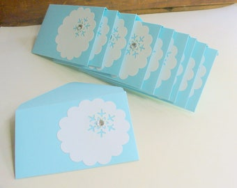 Gift Card Holder, Gift Card Envelope, Christmas Gift Card Holder, Holiday, Snowflake Envelope, Business Card, Greeting Card, Blank Note Card