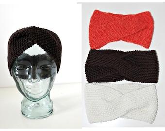 Knit Headband Turban Gypsy Head Wrap Yoga Earmuffs Ear Warmers Winter Headgear Hairband Hipster Grunge Steampunk Boho Hippie Preppy