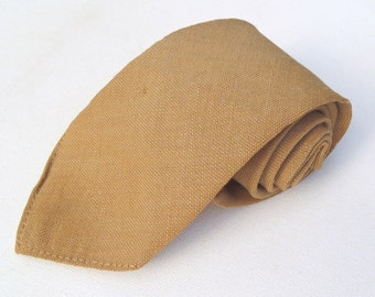 Vintage 1960s Khaki Uniform Wool Tie