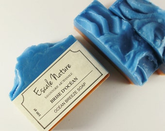 Ocean breeze soap, Artisan soap with sweet almond oil and shea butter, Handmade olive soap