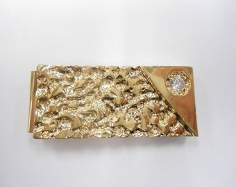 "1 Goldplated ""Gold Rush"" Gold Nugget Money Clip"