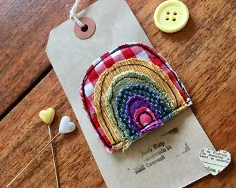 Rainbow brooch