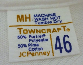 NOS / Vintage 1970s Towncraft T Shirt / XL / 46 / Towncraft / 70s T Shirt / 1970s T Shirt / New Old Stock / Deadstock / L / Blank T Shirt