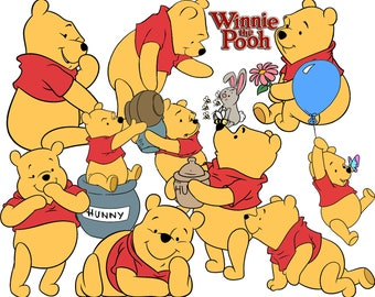 BEST collection of 500 Disney's WINNIE the POOH clipart - 500 high quality Pooh Bear clipart - 500 Winnie the Pooh Graphics !!!
