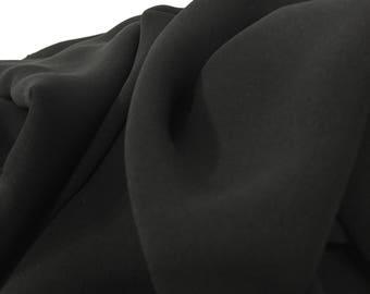 Black Crepe Fabric, Black Material, Flowy Fabric, Dress Fabric, Remnant Fabric, Material, Liquidation Fabric