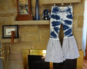Upcycled Little Girls Jeggings size 10