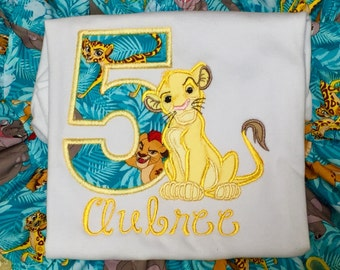 Ari's Angels Personalized Lion King Birthday, Baby Lion Shirt Embroidered, Appliqued, Monogrammed