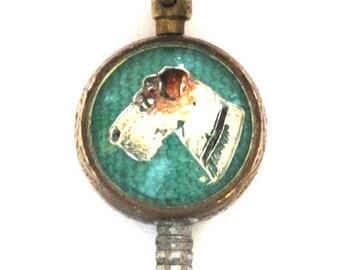 Antique Rerverse Crystal Dog Watch Winder