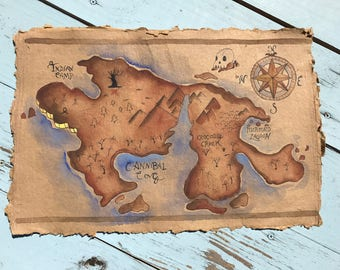 Handpainted Neverland Map Prop