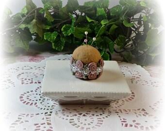 Petite Antique Rose Pin Cushion