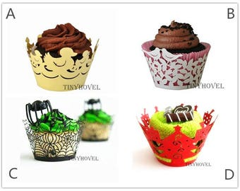 Lace cupcake liner, laser cut cupcake wrapper - Cake Deco, Party Decoration, Packaging-CC006